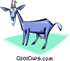 Vector Clip Art image  of a Billy goat