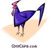 Vector Clip Art graphic  of a rooster
