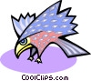 Vector Clipart graphic  of a hawk