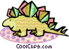 Vector Clipart graphic  of a dinosaur