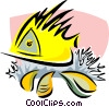 Vector Clipart graphic  of an aquatic design