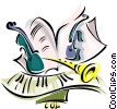 Vector Clip Art image  of a musical motif