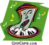 Vector Clip Art graphic  of a keyboard with musical