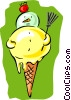 ice cream cone Vector Clipart image