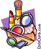 Vector Clip Art image  of a makeup