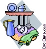 kitchen accessories Vector Clipart illustration