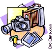 Vector Clip Art image  of a camera studio equipment