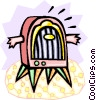 Vector Clipart picture  of a old-fashioned radio with arms