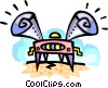 futuristic turntable Vector Clipart graphic