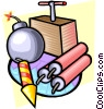 Vector Clipart graphic  of a Explosives and TNT