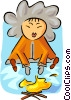 Vector Clip Art graphic  of a Eskimo