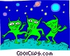 dancing aliens Vector Clipart picture