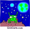 Vector Clipart graphic  of an alien