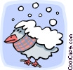 Vector Clipart image  of a Winter/bird