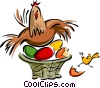Easter/basket Vector Clipart illustration