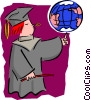 education/graduation Vector Clipart picture
