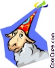 Vector Clip Art graphic  of a birthday/donkey