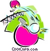 Vector Clip Art graphic  of a table tennis