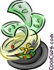 roulette wheel with money Vector Clip Art picture