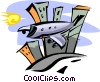 modern flight design Vector Clipart image