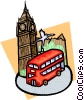 Vector Clipart picture  of a travel U.K.