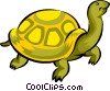 Vector Clip Art image  of a turtle