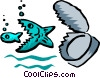 fish concept Vector Clipart illustration