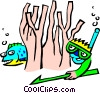 Vector Clip Art graphic  of a scuba concept