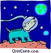 space dog concept Vector Clipart picture