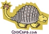 Vector Clip Art image  of a Prehistoric animal