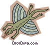 Vector Clipart graphic  of a prehistoric animal concept