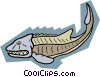 Vector Clip Art image  of a prehistoric animal concept