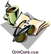 Vector Clipart graphic  of a morning coffee