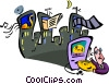 Vector Clip Art graphic  of a Music scene