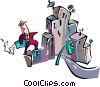 business in the city Vector Clipart picture