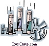 Vector Clipart graphic  of a office worker pistons