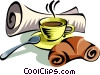 morning coffee Vector Clipart picture