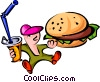 fast foods/burger Vector Clipart illustration