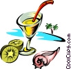 alcoholic beverage Vector Clipart illustration
