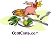 dinner Vector Clipart illustration