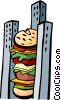 Vector Clip Art graphic  of a fast foods