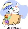 Vector Clip Art graphic  of a ice cream man