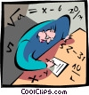 Vector Clipart picture  of a Math test