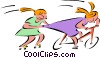 kids playing Vector Clipart image