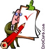 Vector Clipart graphic  of a checklist