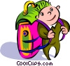 traveler with backpack Vector Clipart picture