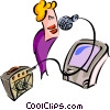 Vector Clipart graphic  of a karaoke