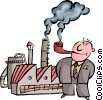 smoking business and stack Vector Clip Art image