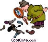 Vector Clipart image  of a Sherlock Holmes