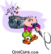 Vector Clipart illustration  of a karaoke